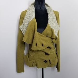 Anthropologie By Gro Abrahamsson Wool Cardigan 42
